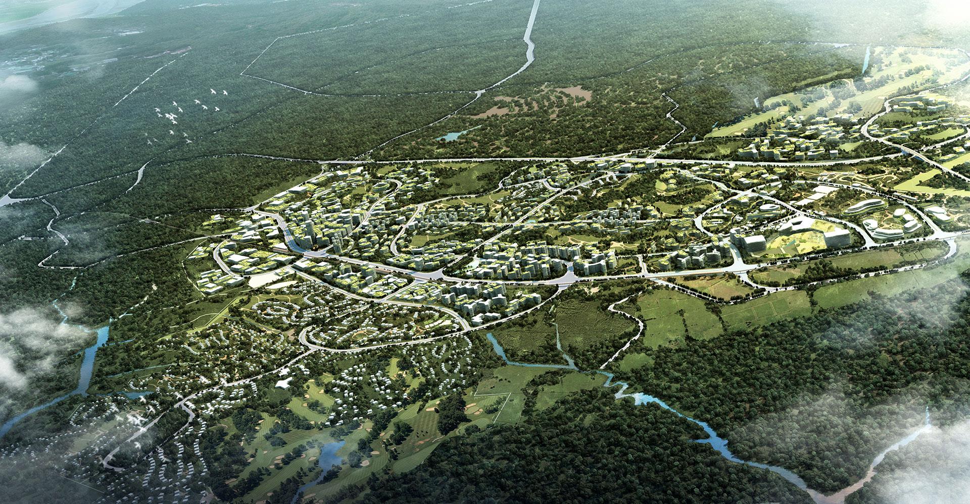 Nusajaya West Master Plan - Malaysia - WATG Aerial 1