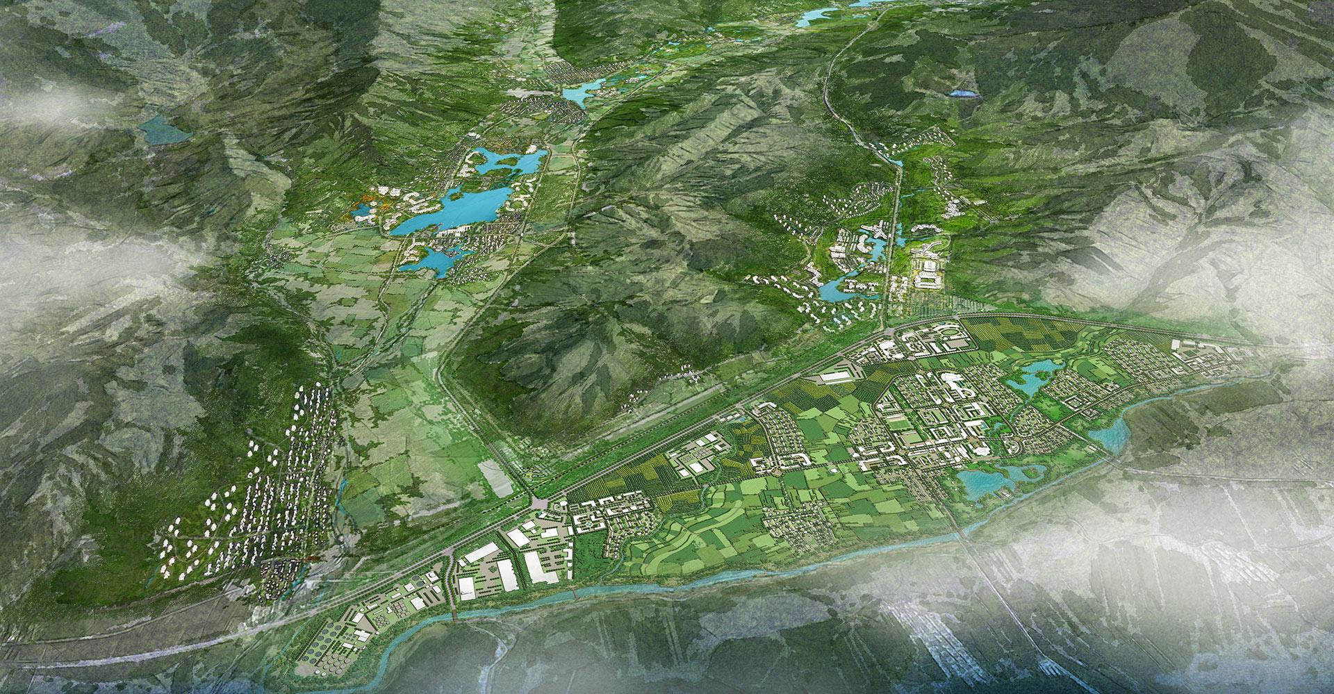 Bei Da Hu New Town Development Aerial WATG