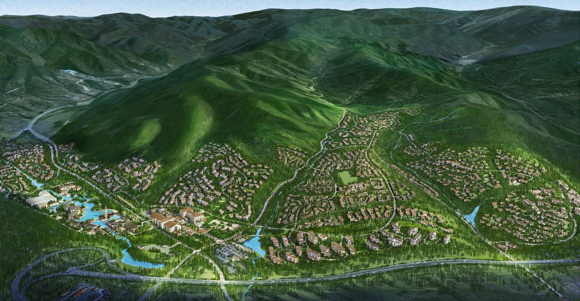Chongli Ski and Mountain Resort WATG Resort Town Aerial