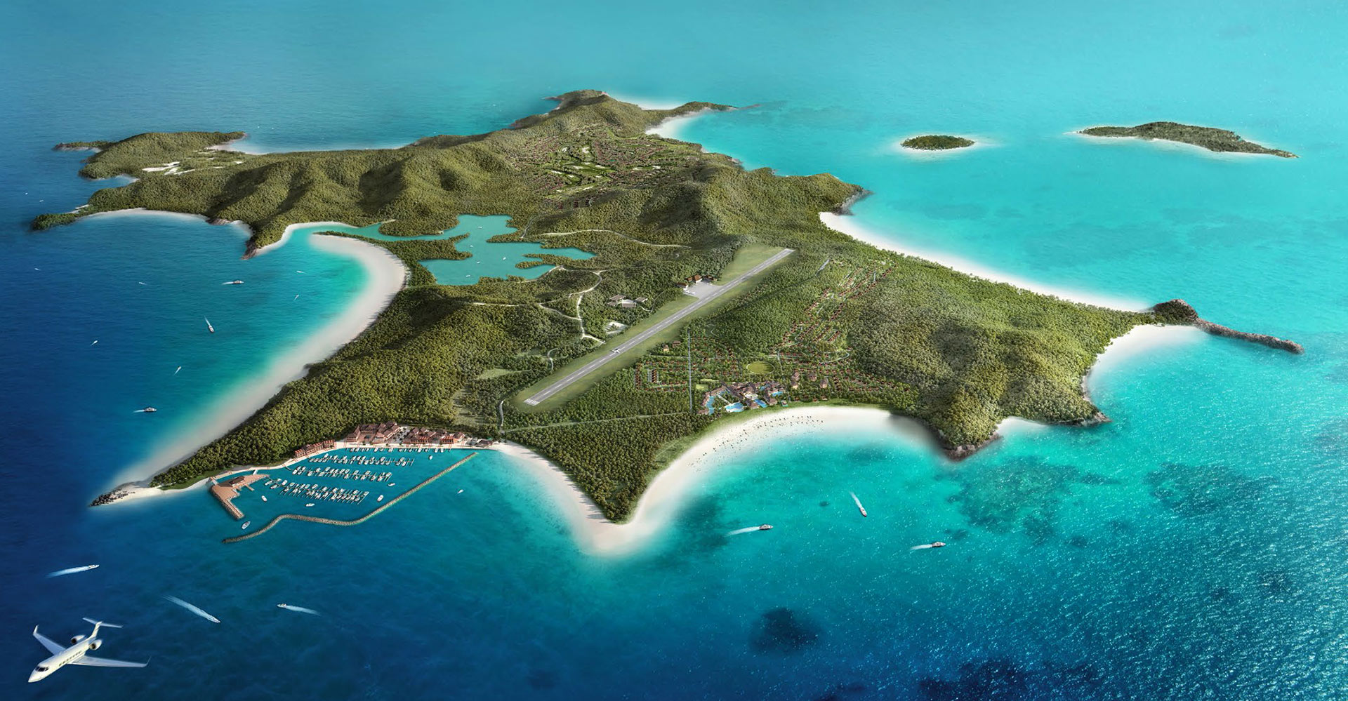 Great Keppel Island - Great Barrier Reef Australia WATG Aerial Main