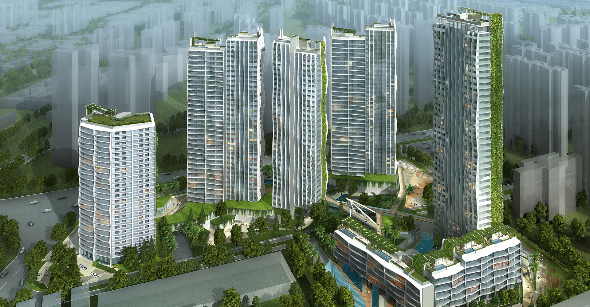 Guangzhou Residential Towers China WATG - Aerial
