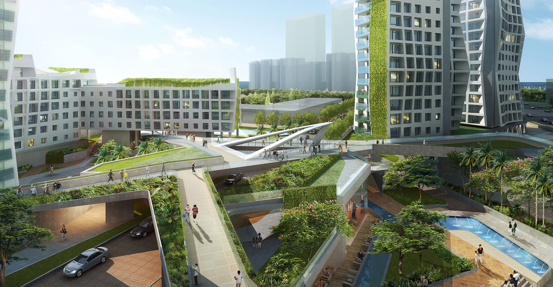 Guangzhou Residential Towers China WATG - Walkways