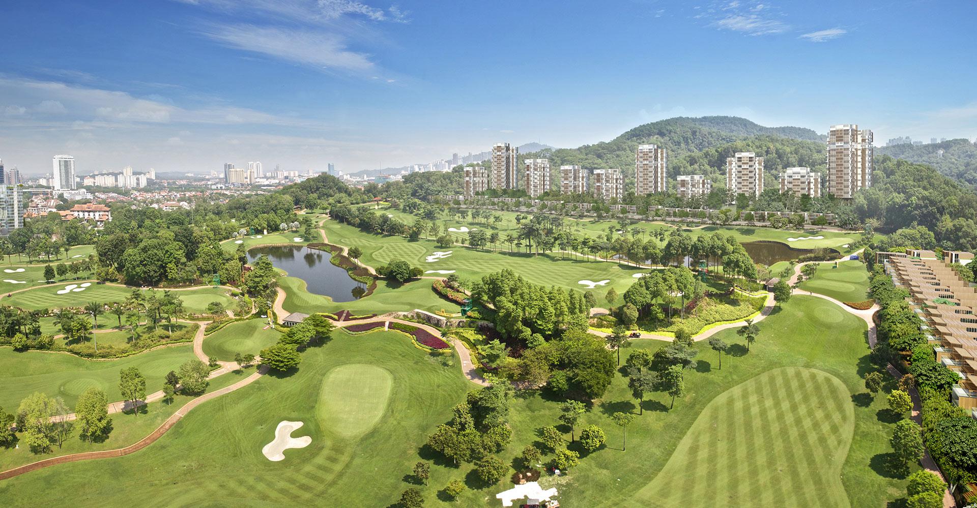 KLGCC Urban Resort Golf - Iskandar Malaysia WATG TOP FLOOR Hole 8 view