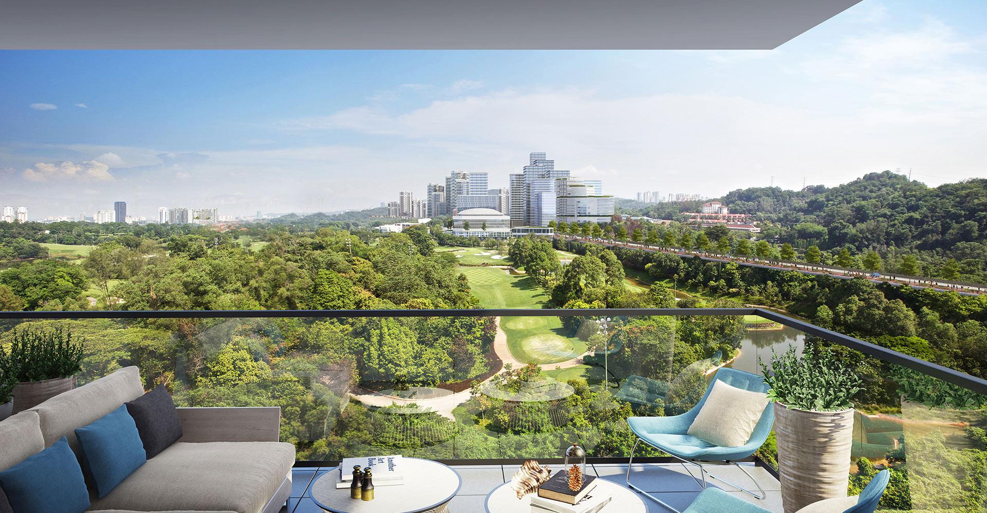 KLGCC Urban Resort Golf - Iskandar Malaysia WATG view stadium