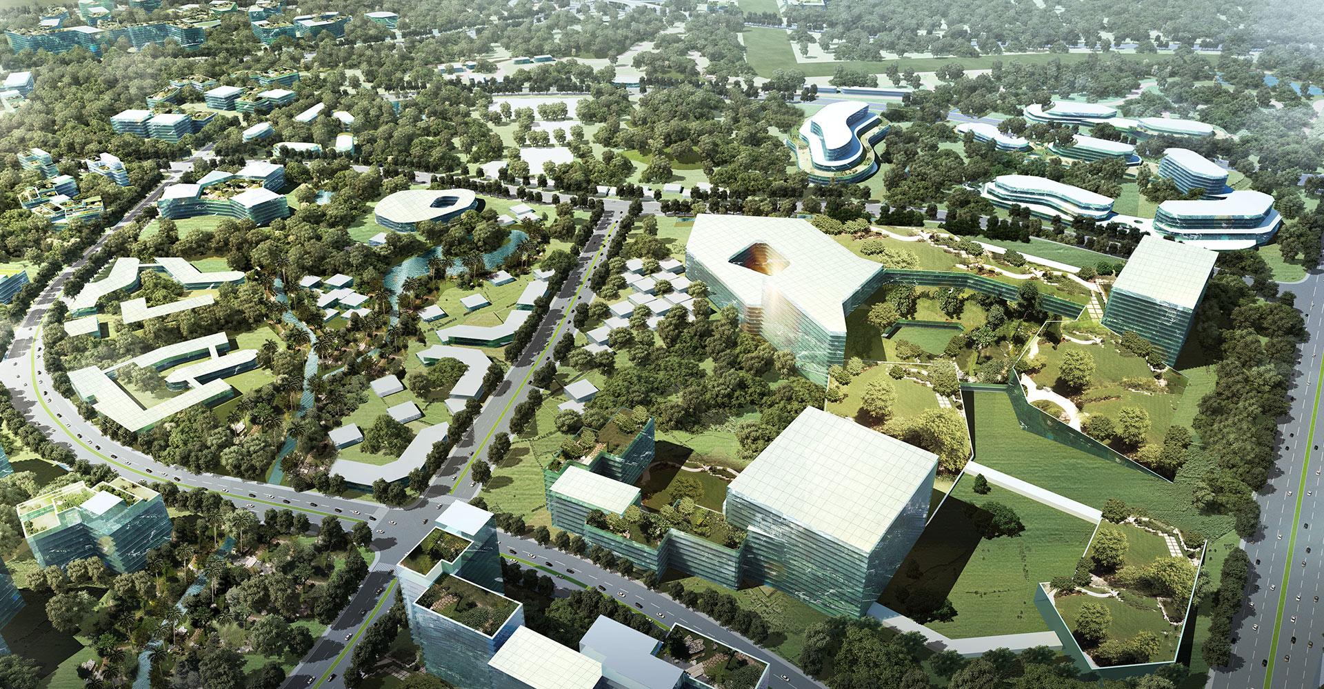Nusajaya West Master Plan - Malaysia - WATG - Aerial 4