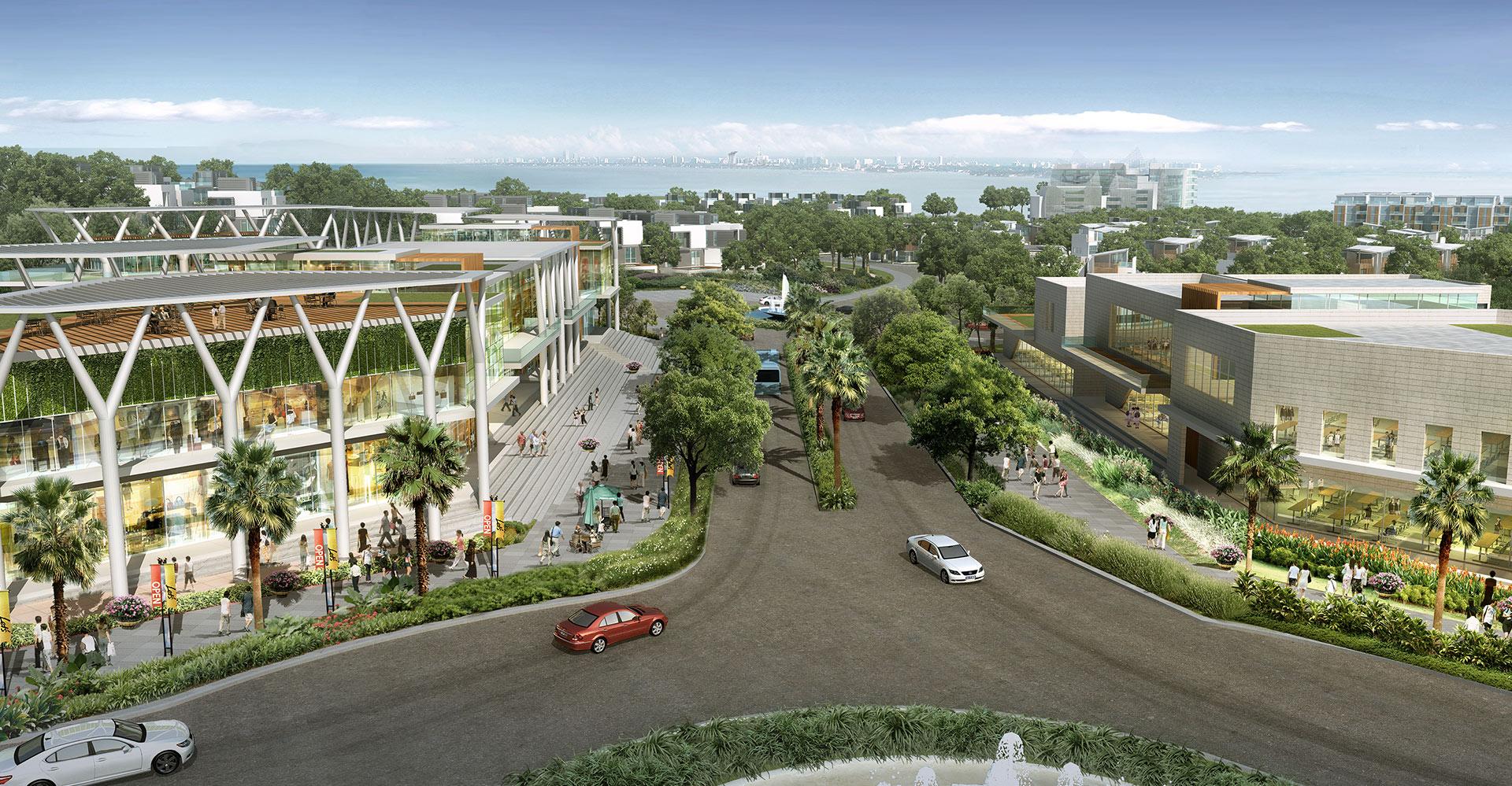 Nuvasa Bay Master Plan - Batam Indonesia - WATG Exterior Skyline