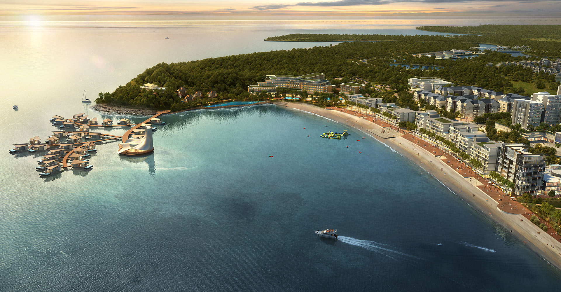 Nuvasa Bay Master Plan - Batam Indonesia - WATG Perspective
