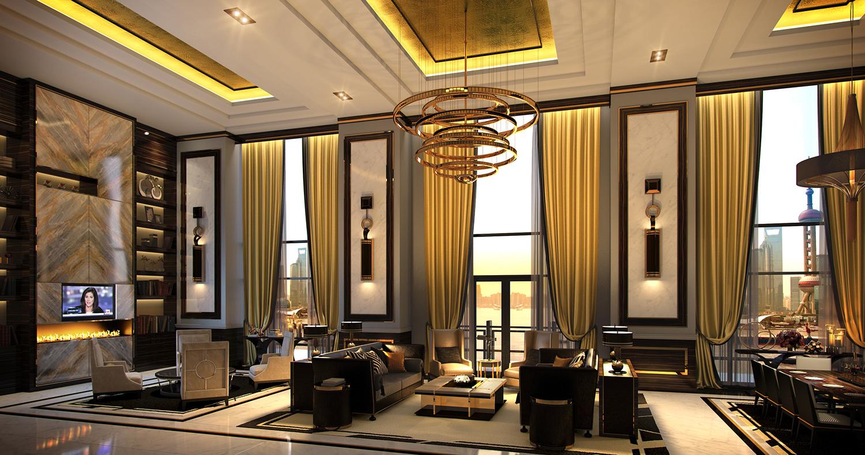 Wimberly Interiors Bellagio Shanghai Shanghai China Bund on Modern Glamour Interior Design