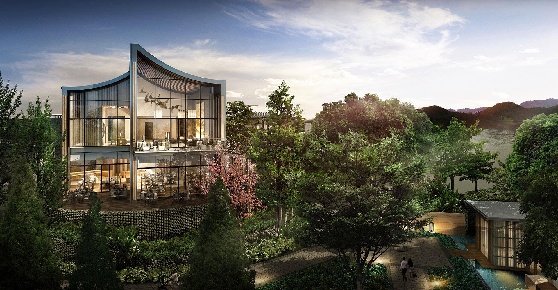 Xianhai Boutique Resort - Mianyang China - WATG - Lobby Exterior