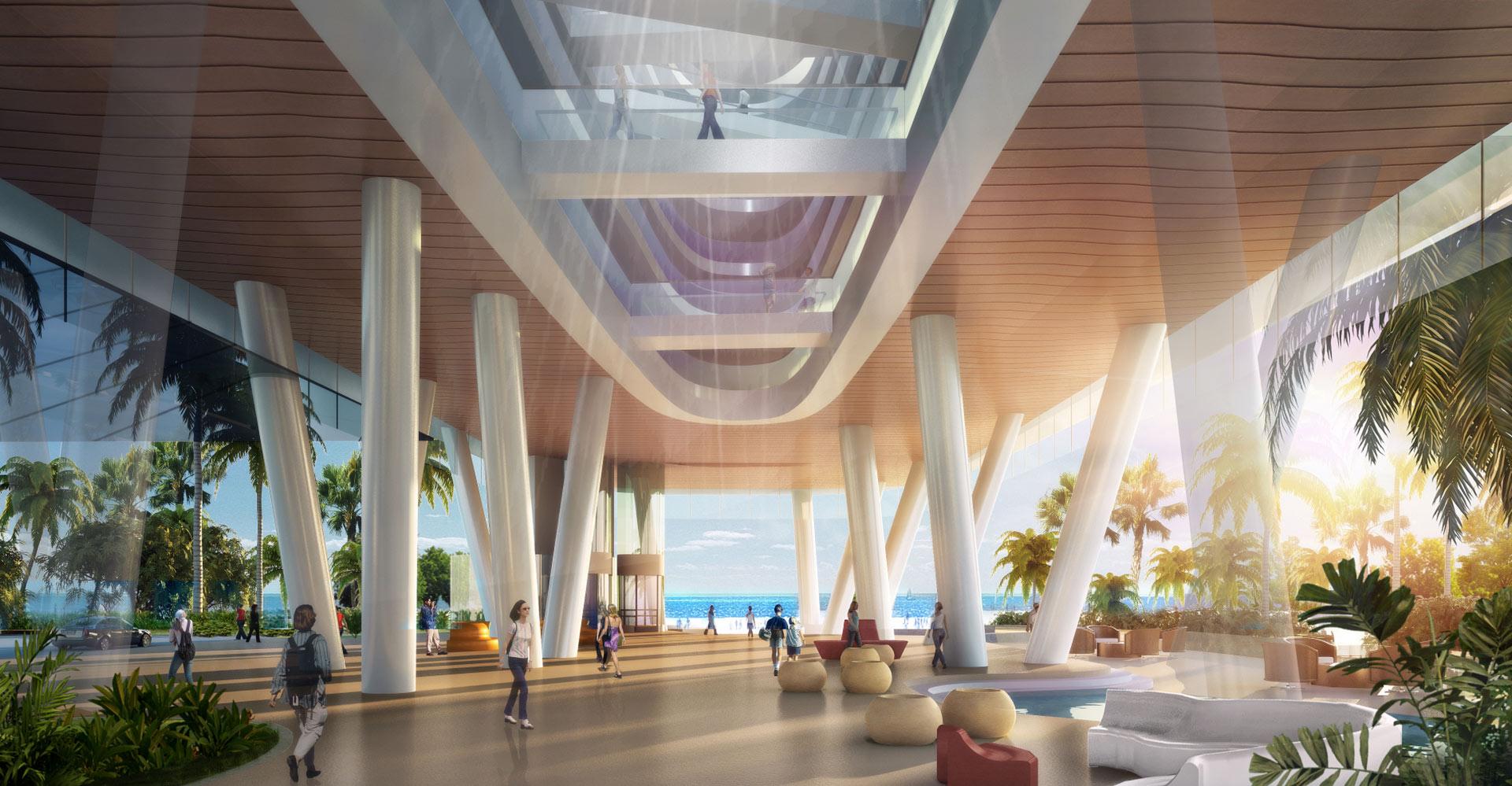 Yanlord Crowne Plaza Resort China WATG Below