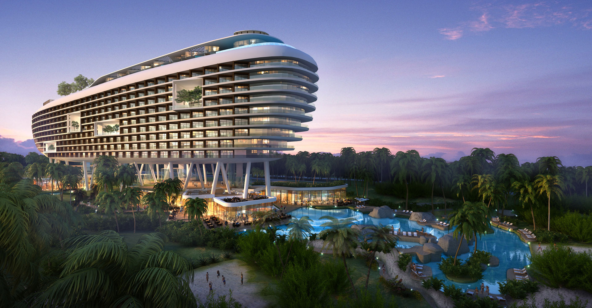 Yanlord Crowne Plaza Resort China WATG Exterior