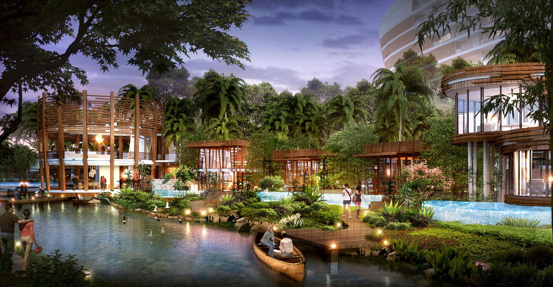 Yanlord Crowne Plaza Resort China WATG Waterway